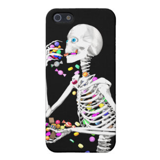 Skeleton Eating Halloween Candy iPhone 5 Covers