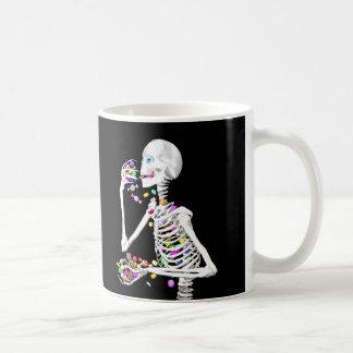 Skeleton Eating Halloween Candy Mugs