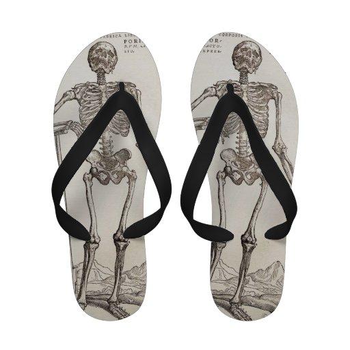Skeleton Flip Flops Thongs