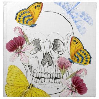 Skeleton Flowers Napkin