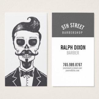 Skeleton Gentleman Barber Business Card