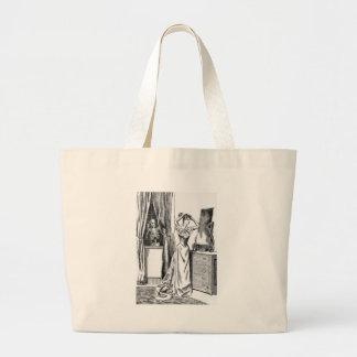 Skeleton Ghoul Monster Victorian Woman Jumbo Tote Bag