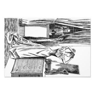 Skeleton Ghoul Monster Victorian Woman Photo Print