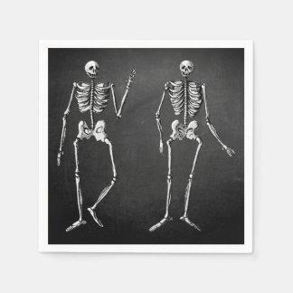 Skeleton Glam Halloween Napkins Paper Napkin