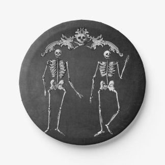 Skeleton Glam Paper Plate