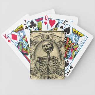 Skeleton, Goth, Medieval Bicycle Playing Cards