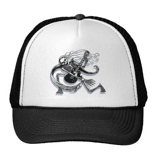 Skeleton Guitarist -crouch Cap