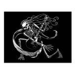 Skeleton Guitarist -crouch Postcard