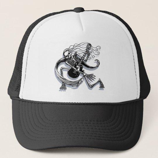 Skeleton Guitarist -crouch Trucker Hat
