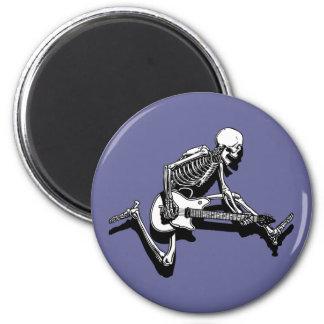 Skeleton Guitarist Jump Magnets