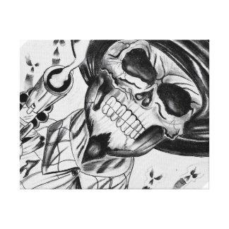 Skeleton Gun Slinger Cowboy Canvas Print