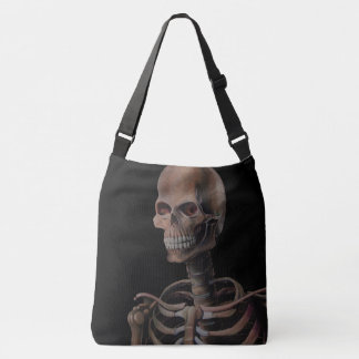 Skeleton Hand Painted Crossbody Bag