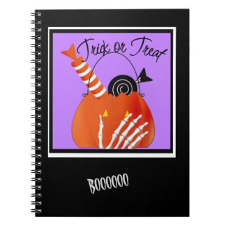 Skeleton Hand Trick or Treat Candy Notebook