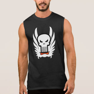 Skeleton Head Skull Wings T-Shirt