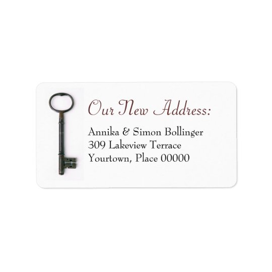 Skeleton Key New Address Label