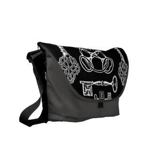 Skeleton Keys Courier Bag