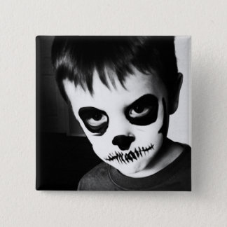 Skeleton Kid (2 inch pin) 15 Cm Square Badge