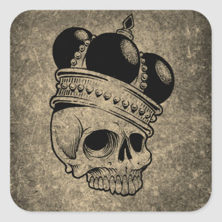Skeleton King Wearing a Crown Skull Sticker