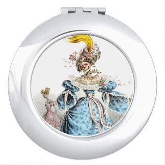 Skeleton Lady compact mirror