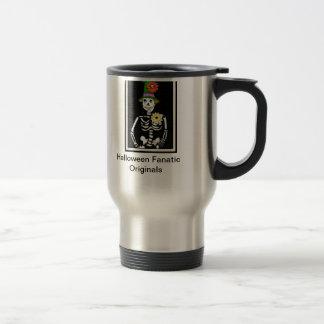 Skeleton Lady Stainless Steel Travel Mug