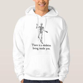 Skeleton Living Inside You Hooded Sweatshirt