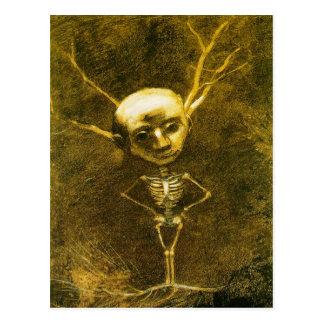 Skeleton Man Postcard by Odilon Redon