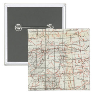 Skeleton Map 15 Cm Square Badge