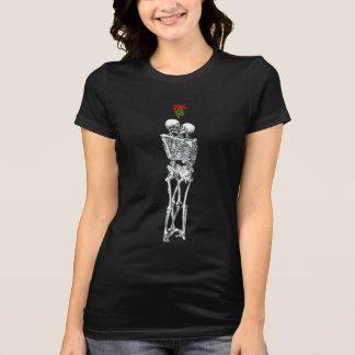 Skeleton  Mistletoe Kiss Tee Shirt