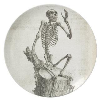 Skeleton Monkey Party Plate