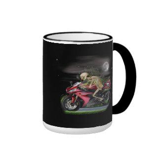 Skeleton Motorcycle items Coffee Mugs