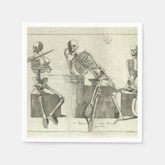 Skeleton Musicians Disposable Napkin