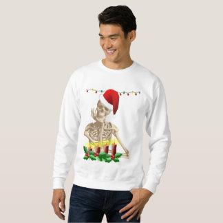 skeleton nightmare christmas mens sweatshirt