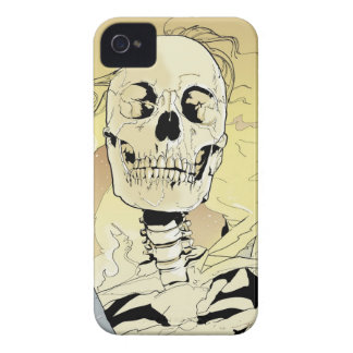 Skeleton on Fire iPhone 4 Cases