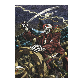 Skeleton Pirate Canvas Canvas Print