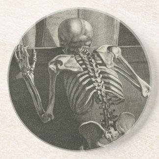 Skeleton Reading Coaster