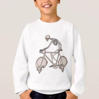 Skeleton Riding Bike With Skull Wheels Sweatshirt