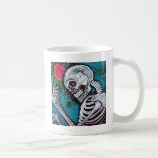 Skeleton Rose Mug