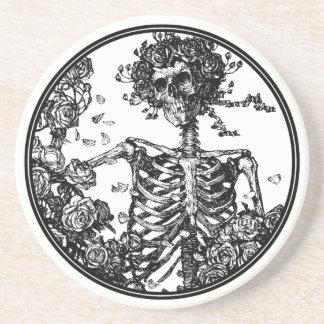 Skeleton & Roses Beverage Coaster