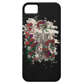 Skeleton & Roses - bleached version iPhone 5 Cases