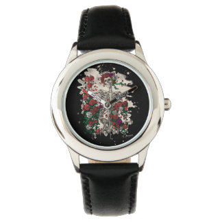Skeleton & Roses - bleached version Wrist Watches