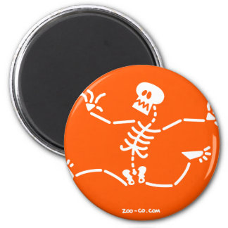 Skeleton Running Away Magnet
