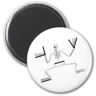 Skeleton Saint 6 Cm Round Magnet