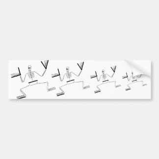 Skeleton Saint Bumper Sticker