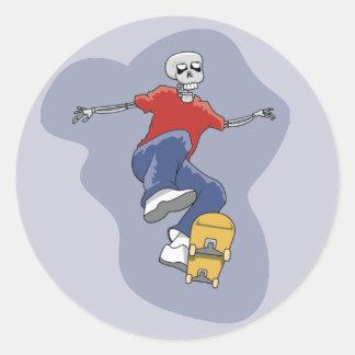 Skeleton Skateboarding stickers