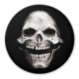 Skeleton Skull Ceramic Knob