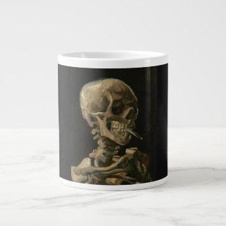Skeleton Skull with Burning Cigarette by Van gogh Giant Coffee Mug