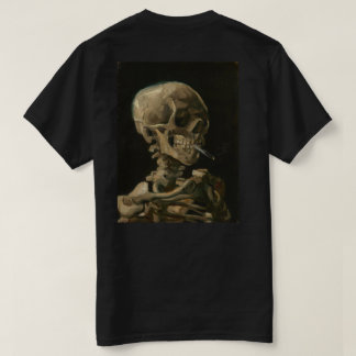Skeleton Skull with Burning Cigarette by Van Gogh T-Shirt