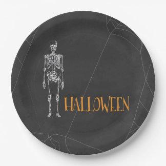 Skeleton Spirit Halloween Paper Plate 9 Inch Paper Plate