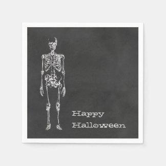 Skeleton Spirit Halloween Party Napkins Paper Napkins