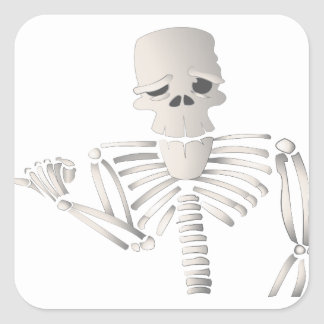 Skeleton Square Sticker